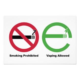 Smoking Prohibited. Vaping Allowed Photograph