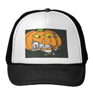 smoking pumpkin trucker hat