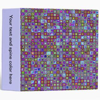 Smoking Purple Funky Retro Mosaic Tiles Pattern Binders