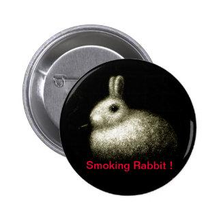 Smoking Rabbit Pinback Buttons