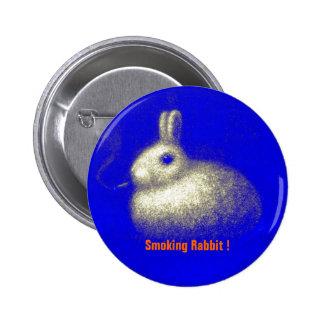 Smoking Rabbit Pin