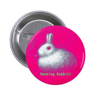 Smoking Rabbit Pinback Button
