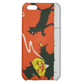Smoking Scarecrow Jack O' Lantern Black Cat iPhone 5C Cover