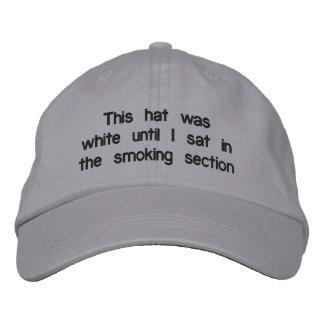 """Smoking Section"" Adjustable Hat Baseball Cap"