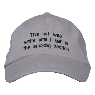 """Smoking section"" Adjustable Hat Embroidered Hat"