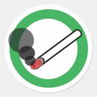 Smoking Sign Round Sticker