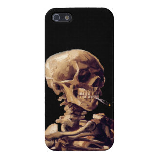 Smoking skeleton by Van Gogh Case For The iPhone 5