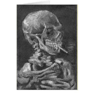 Smoking Skull After Van Gogh. Card