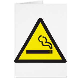 Smoking Smoker Sign Card