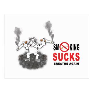SMOKING SUCKS STOP POSTCARD