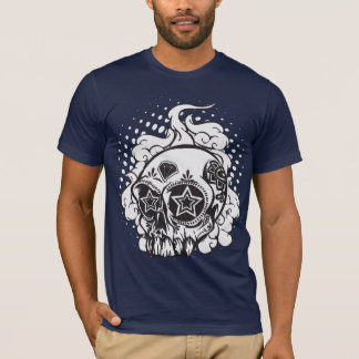 Smoking Sugar Skull T-Shirt