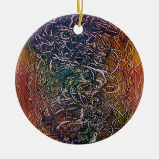 Smoking volcano ceramic ornament