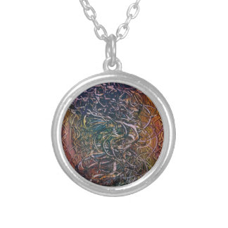 Smoking volcano silver plated necklace