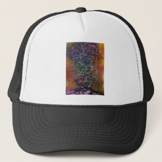Smoking volcano trucker hat
