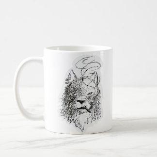 Smoking Wolf Coffee Mug