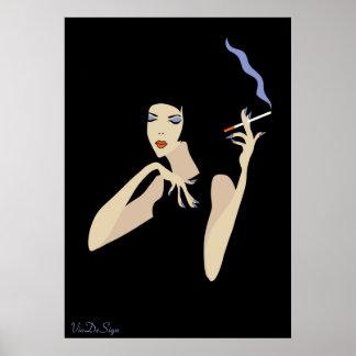 Smoking Woman Poster