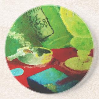 Smoky Absinthe Bar Coaster