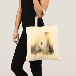 Smoky & Faded Abstract Monogram | Basic Tote