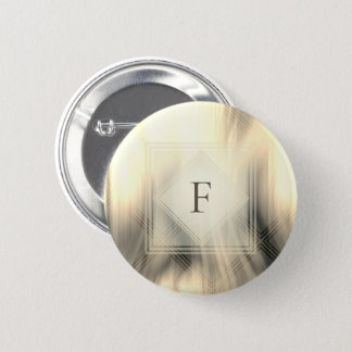 Smoky & Faded Abstract Monogram | Button