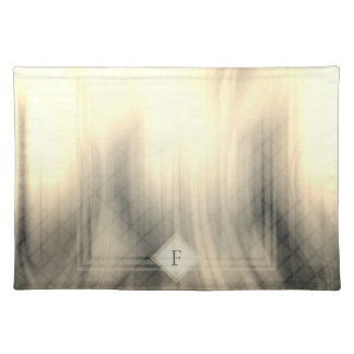 Smoky & Faded Abstract Monogram | Cloth Placemat