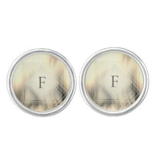 Smoky & Faded Abstract Monogram | Cufflinks