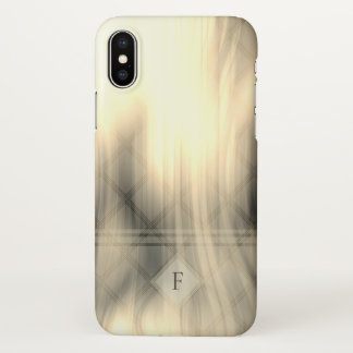 Smoky & Faded Abstract Monogram   iPhone X Case
