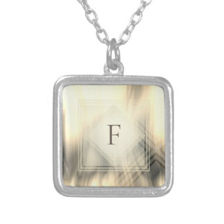 Smoky & Faded Abstract Monogram | Necklace