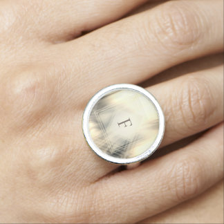 Smoky & Faded Abstract Monogram | Ring