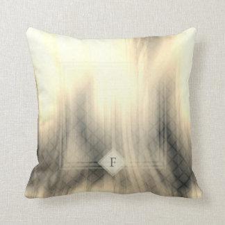 Smoky & Faded Abstract Monogram | Throw Pillow