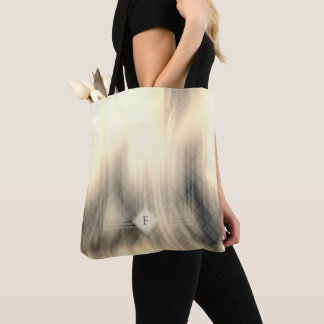 Smoky & Faded Abstract Monogram | Tote Bag