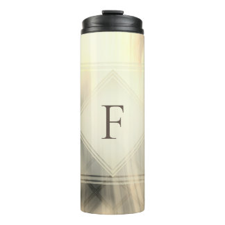 Smoky & Faded Abstract Monogram | Tumbler