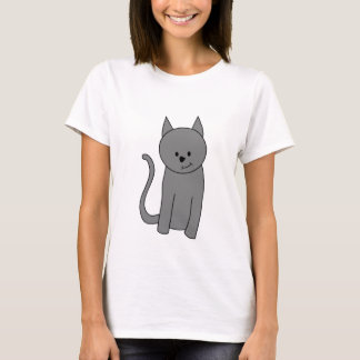 Smoky gray cat cartoon T-Shirt