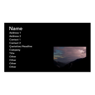 Smoky Mountain Lightning Double-Sided Standard Business Cards (Pack Of 100)