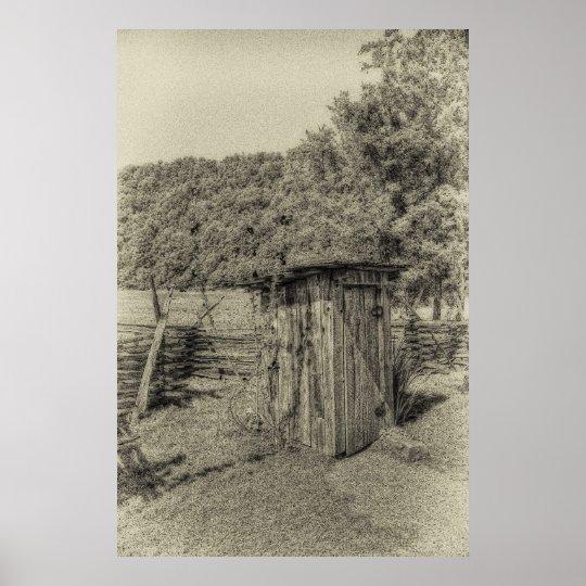 Smoky Mountain Outhouse Poster