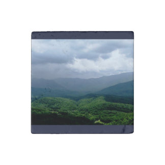 Smoky Mountain Scene Stone magnets