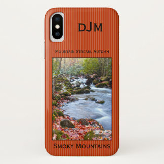 Smoky Mountain Stream Fall Foliage Photography iPhone X Case