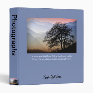 Smoky Mountain Sunset from the Blue Ridge Parkway 3 Ring Binder