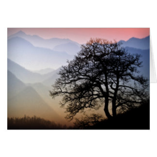 Smoky Mountain Sunset from the Blue Ridge Parkway Greeting Card