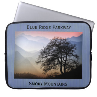 Smoky Mountain Sunset from the Blue Ridge Parkway Laptop Sleeve