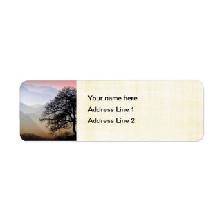 Smoky Mountain Sunset from the Blue Ridge Parkway Return Address Label