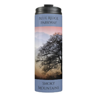 Smoky Mountain Sunset from the Blue Ridge Parkway Thermal Tumbler