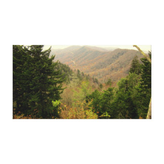 Smoky Mountains Tennessee view 1 Canvas Print