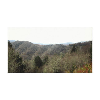 Smoky Mountains Tennessee view 2 Canvas Print