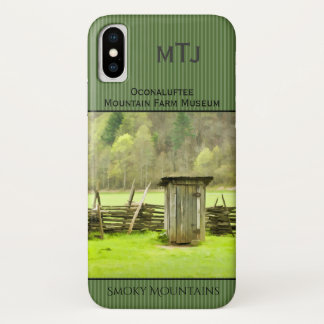 Smoky Mountains Vintage Outhouse Photography iPhone X Case