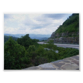 Smoky Mt. scenic overlook Poster