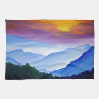 smoky mtn sunset towels