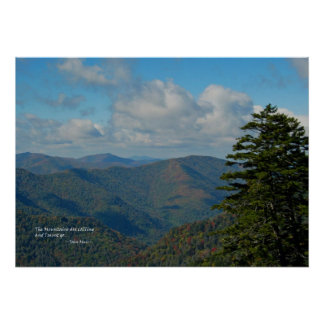 Smoky Mtns: Mtns are calling… John Muir Poster