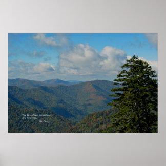Smoky Mtns: Mtns are calling... John Muir Print