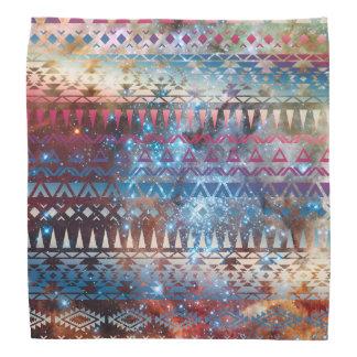Smoky Pastel Aztec Night Sky stars pink blue mauve Bandanna