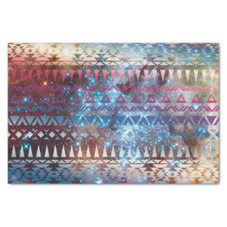 Smoky Pastel Aztec Night Sky stars pink blue mauve Tissue Paper